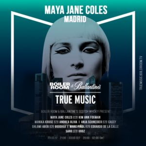 Boiler Room Madrid Maya Jane Coles