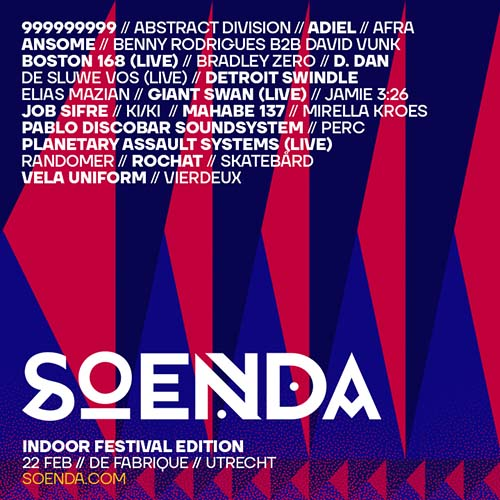 Soenda Indoor Festival 2020