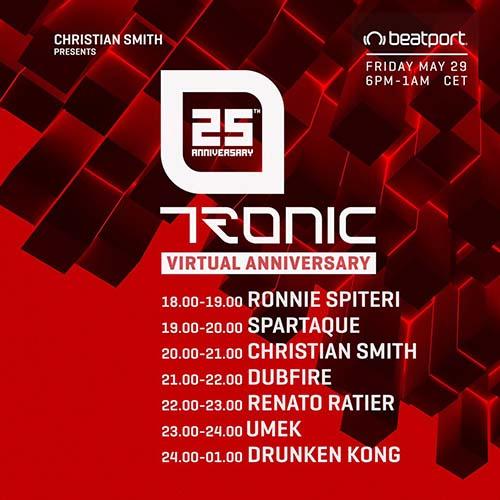 Ronnie Spiteri – Tronic 25th Virtual Anniversary