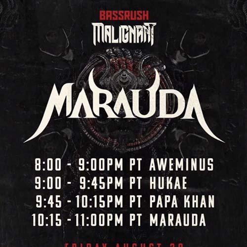 Hukae – Bassrush presents Malignant Showcase ft. Marauda & Friends (August 28, 2020)